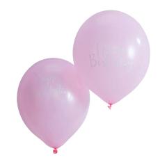 Μπαλόνια ροζ Happy Birthday Pick and Mix