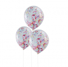 Μπαλόνια διαφανή με κομφετί Pick and Mix