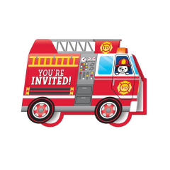 Προσκλήσεις για πάρτι Flaming Fire Truck 8τεμ