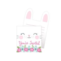 Προσκλήσεις γενεθλίων Birthday Bunny 8τεμ