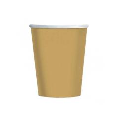 Χάρτινα ποτήρια χρυσά 266ml