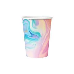 Ποτήρια χάρτινα Παστέλ 270ml (6 τεμ)