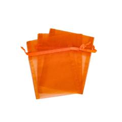 Πουγκί ρυζιού πορτοκαλί από οργάντζα 14x11εκ 10τεμ