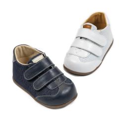 Sneaker δερμάτινο διπλή μπαρέτα χρατς Babywalker