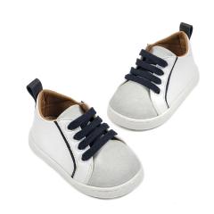 Δερμάτινο sneaker δετό δίχρωμο Babywalker