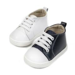 Δερμάτινα δετά sneakers Babywalker