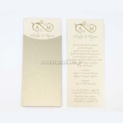 Προσκλητήριο γάμου σύμβολο του άπειρου Tsantakides