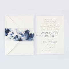 Προσκλητήριο γάμου σύγχρονο floral σχέδιο Tsantakides