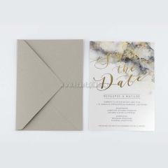 Προσκλητήριο γάμου Save the Date tsantakides