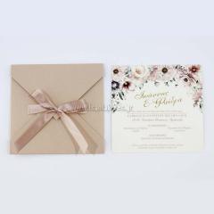 Προσκλητήριο γάμου ρομαντικό dusty floral Tsantakides