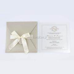 Προσκλητήριο γάμου κλασικό μίνιμαλ σχεδιασμός Tsantakides