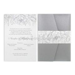 Προσκλητήριο γάμου minimal γραμμικό σχέδιο Tsantakides