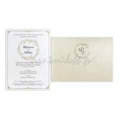 Προσκλητήριο γάμου κλασικό elegant Tsantakides