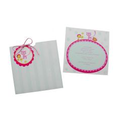 Προσκλητήρια Βάπτισης MyMastoras® – Pink Kitten