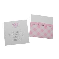Προσκλητήρια Βάπτισης MyMastoras® – Pink Crown