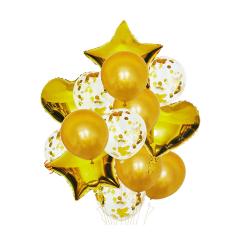 Σετ μπαλόνια χρυσό 14τεμ.