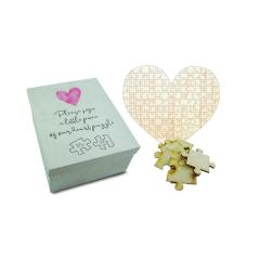 Ευχολόγιο Puzzle ξύλινο καρδιά 141κομμάτια 48x48εκ Twenty2Twins