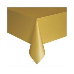 Πλαστικό τραπεζομάντηλο χρυσό