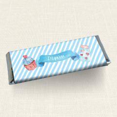 Περιτύλιγμα Σοκολάτας MyMastoras Blue Cupcake