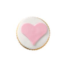 Μπισκότο ζαχαρόπαστας σε σχήμα καρδία