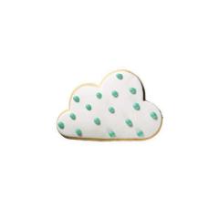 Μπισκότο ζαχαρόπαστας σε σχήμα σύννεφο πουά