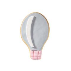 Μπισκότο ζαχαρόπαστας σε σχήμα αερόστατο ρόζ