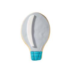 Μπισκότο ζαχαρόπαστας σε σχήμα αερόστατο γαλάζιο