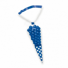 Σακουλάκια κώνοι πουά μπλε 10τμχ