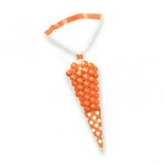 Σακουλάκια κώνοι πουά πορτοκαλί 10τμχ