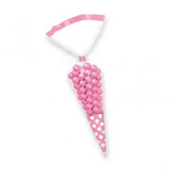 Σακουλάκια κώνοι πουά ροζ 10τμχ