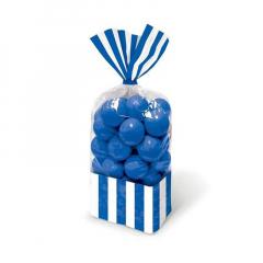 Σακούλες ριγέ μπλε 10τμχ