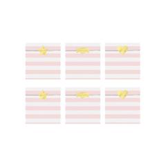 Σακουλίτσες για δωράκια ριγέ ροζ (6τμχ)
