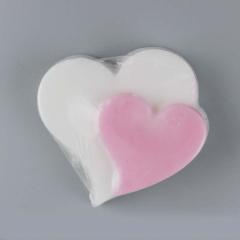Χειροποίητο σαπουνάκι καρδιά διπλή 65x65mm