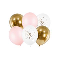 Σετ μπαλόνια One παστέλ ροζ 6 τεμ
