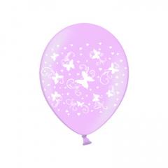 Σετ μπαλόνια ροζ με πεταλούδες 6τεμ