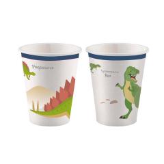 Χάρτινα ποτήρια με θέμα δεινοσαύρους 8τεμ