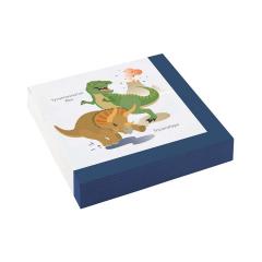 Χαρτοπετσέτες με θέμα δεινοσαύρους 20τεμ
