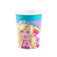 Χάρτινα ποτήρια με θέμα Barbie 8τεμ