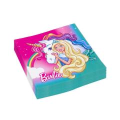 Χαρτοπετσέτες φαγητού με θέμα Barbie 20τεμ