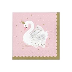 χαρτοπετσέτες με θέμα Stylish Swan 165x165mm