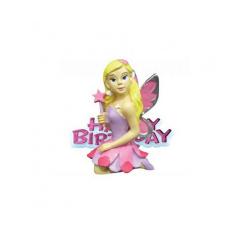 Διακοσμητικό τούρτας Νεράιδα Happy Birthday 4x6εκ