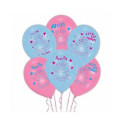 Μπαλόνια λατέξ Peppa Pig 27εκ 6τεμ