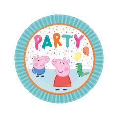 Χάρτινα πιάτα φαγητού Peppa Pig 23εκ