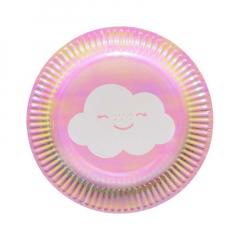 Χάρτινα πιάτα γλυκού Rainbow & Cloud