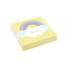 Χαρτοπετσέτες Rainbow & Cloud 3φυλλες 25x25 εκ