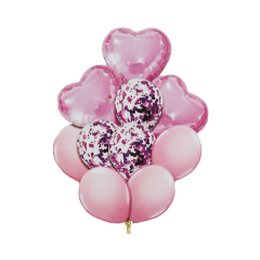 Σετ μπαλόνια ροζ 10τεμ