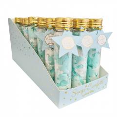 Σαπούνι confetti αστεράκια σιελ λευκά Soap Tales