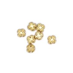 Σταυρός μεταλλικός χρυσός 7mm 50τεμ