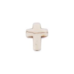 Σταυρός χαολίτη λευκός 15x11mm 50τεμ