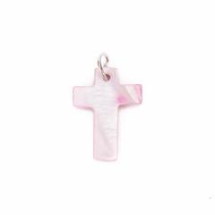 Σταυρός φίλντισι ροζ 22x15mm 50τεμ
